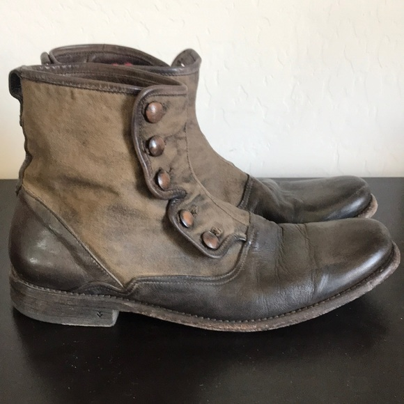 a37ed7074f5 John Varvatos leather button boots